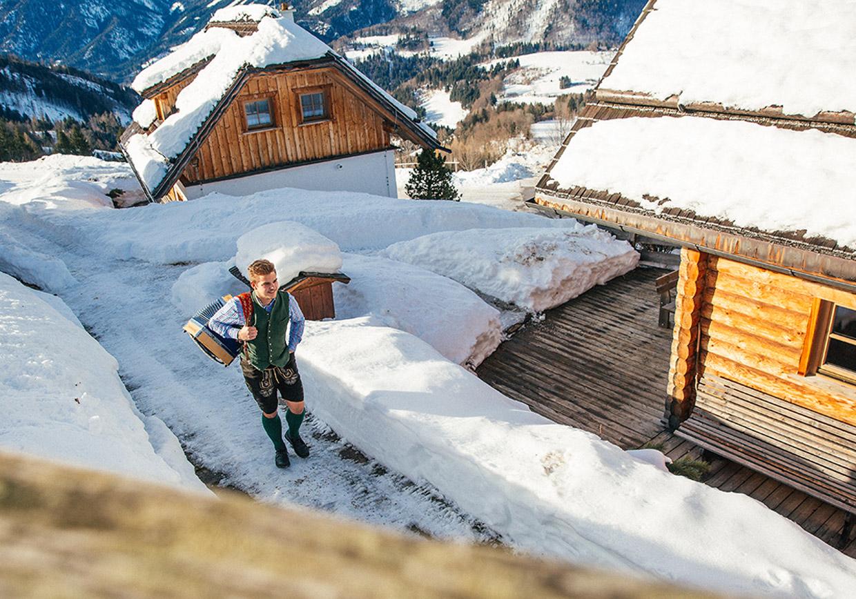 winterlandschaft, baumschlagerberg, wintersport, idylle, schifahren